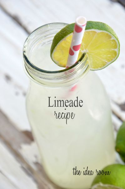 Limeade-Recipe: Homemade Limeade, Limeade Recipes, Limes Drinks, Ideas Rooms, Limeade Drinks, Fast Recipes, Homemade Recipe, Summer Drink Recipes, Summer Drinks Recipes