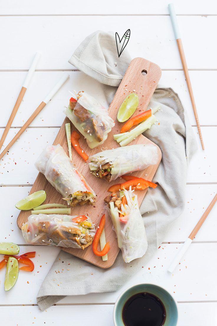 Op zoek naar het perfecte partyfood? Deze springrolls zijn super snel klaar en ook nog eens super gezond! De perfecte snack voor op een feestje, maar ook lekker als avondeten.