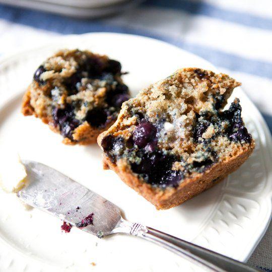 Blueberry Bran Muffins by thekitchn #Muffins #Blueberry #Bran