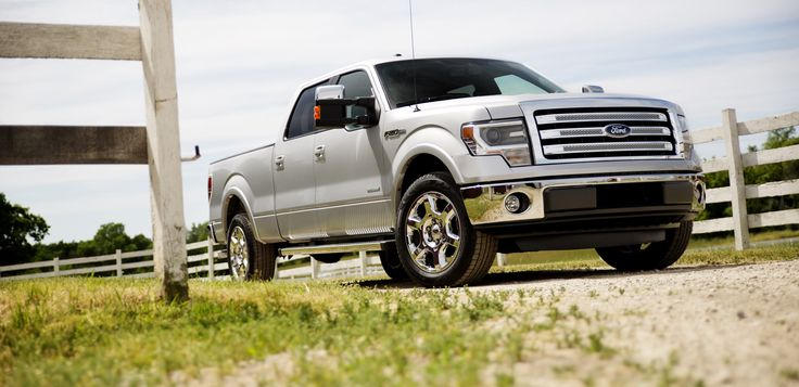 silver Ford F-150 truck