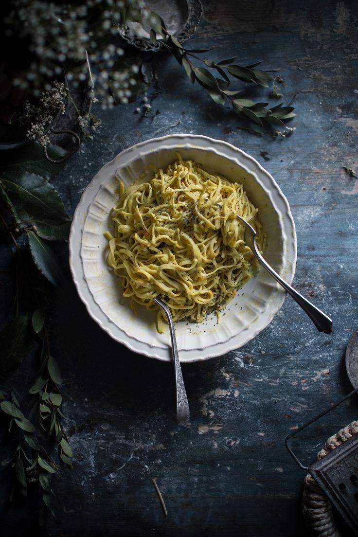 Creamy Taglierini Pasta with Saffron Sauce | Hortus Italian Cooking