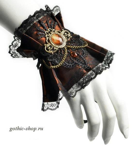 Манжета в стиле Steampunk/Victorian(1штука) | Готическая одежда, стимпанк одежда, лолита стайл, одежда для готов, рок одежда, cosplay одежда, готический магазин, рок магазин