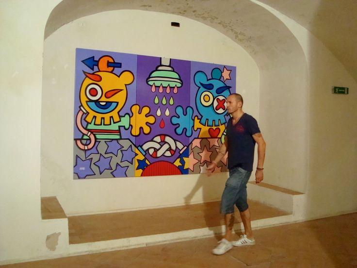 "Me and My Work ""Piove sul Nostro Amore"" 200cmx300cm #art #popart #mondorondo #spoleto"