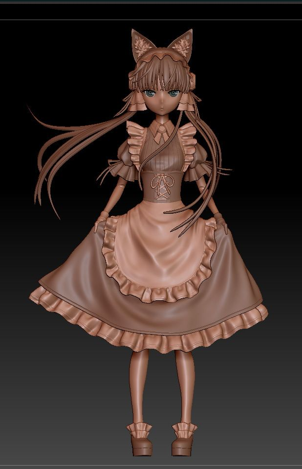 Anime Characters Zbrush : Images about anime d on pinterest chibi oblivion