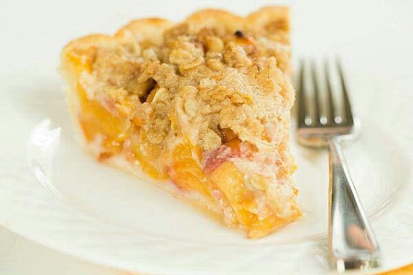 Peach crumble | Peaches | Pinterest