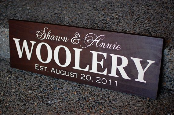 Last Name Family Sign Established Wood Sign Personalized Family Plaque - ETS-103