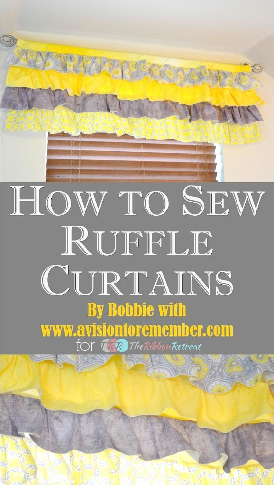 How To Sew A Ruffled Valance Curtain - The Ribbon Retreat Blog. Oms. Sew the ends together and make longer. Ruffled skirt!☺