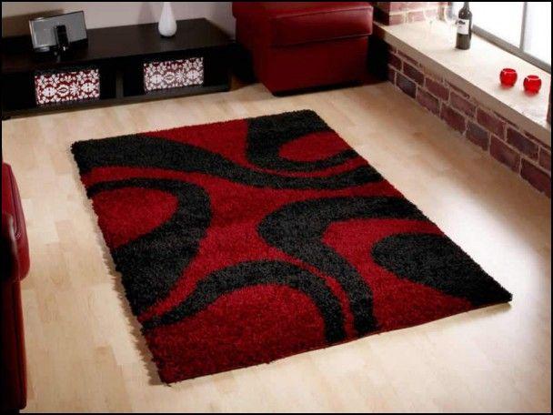 red shag rug 810
