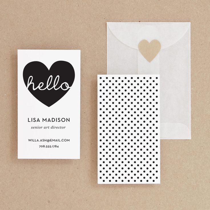 INSTANT DOWNLOAD - Hello - DIY Printable Business Card. $19,00, via Etsy.