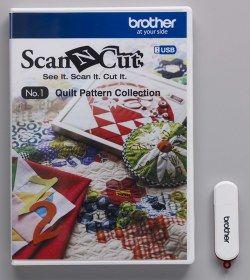 USB No. 1 Collezione Disegni per Trapunte Art. No. CAUSB1 per Brother ScaNCut CM840 - Completate i vostri progetti di trapunte con questa straordinaria collezione!