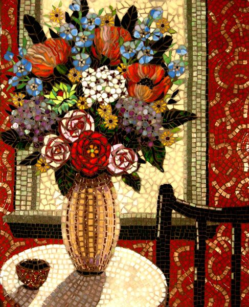 By Carl and Sandra Bryant mosaic..interesting article on the Techniques of Mosaic art.
