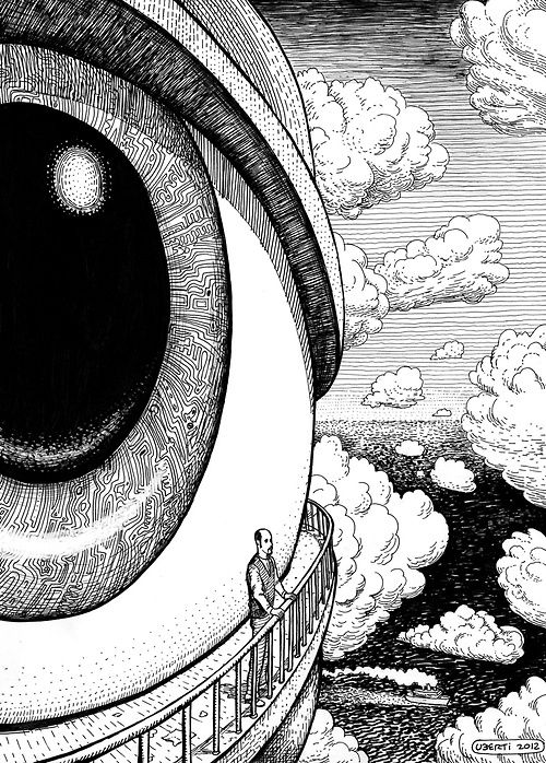 • drawing art eyes painting eye psychedelic creative strange mind surrealism surreal travelling Creation wandering fiftyshadesofcraybitethepillow •