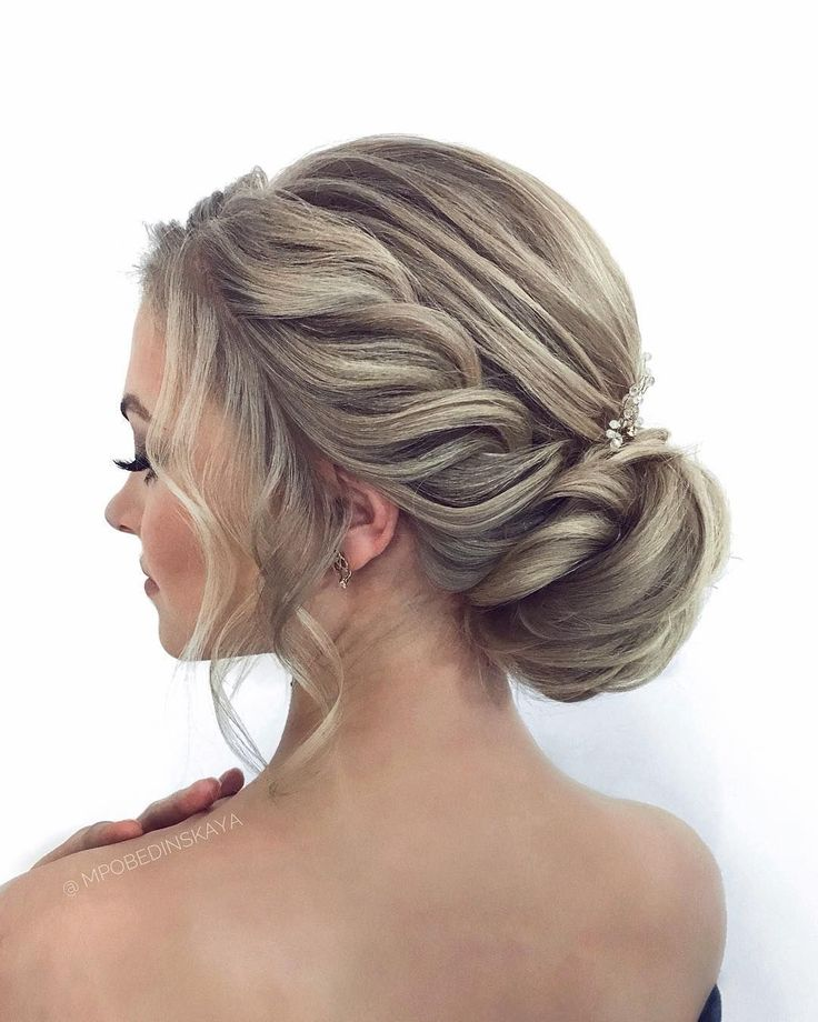 Romantic Hairstyle to inspire you #weddinghairstylesside Beautiful updo hairstyles, upstyles, elegant updo ,chignon ,bridal updo hairstyles ,swept bac...
