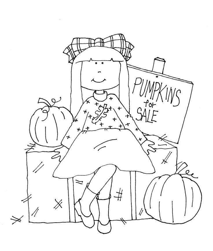 Free Dearie Dolls Digi Stamps: Pumpkins for Sale