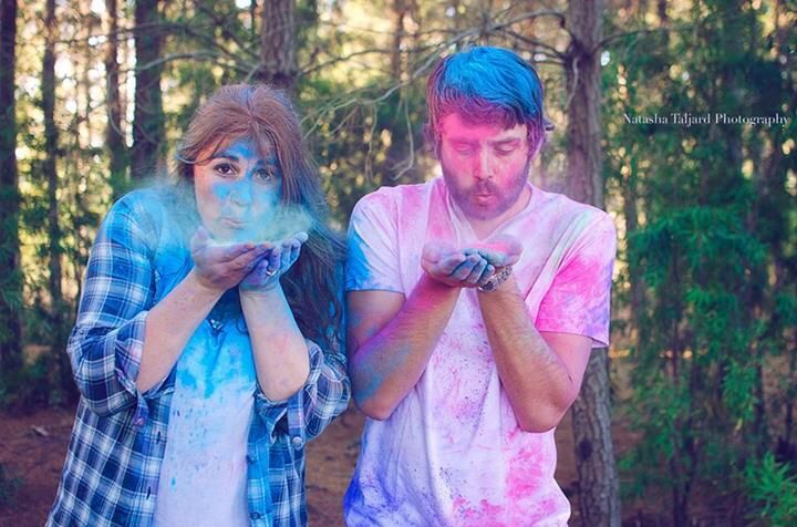 Couple shoot, paint fight, Forrest.