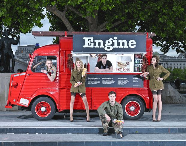 ENGINE Owned by Richard Shanks (third from left), 29, an actor < - London Evening Standard