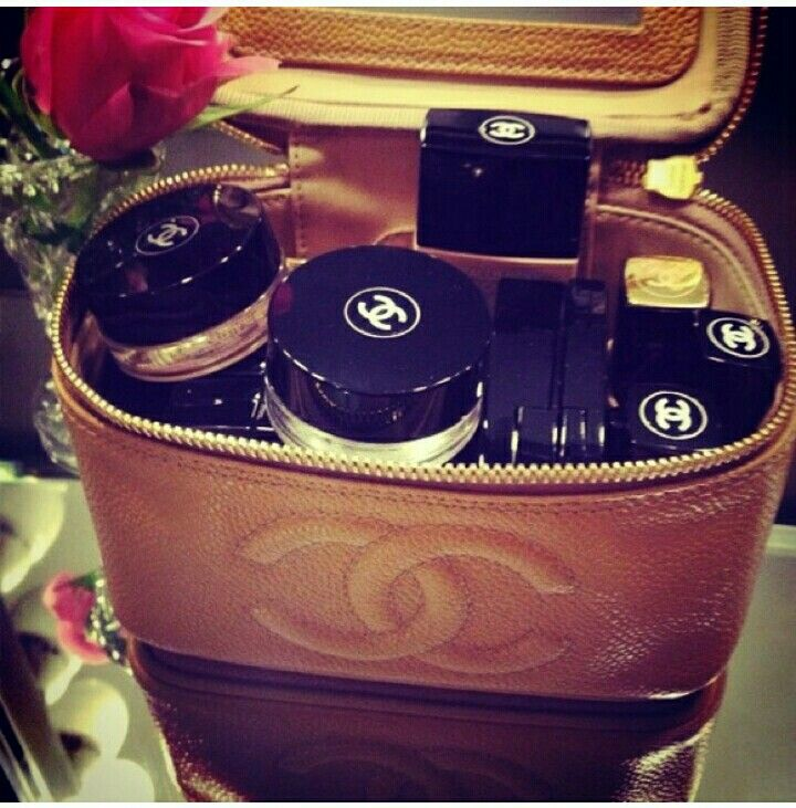 In love with this Chanel makeup vanity