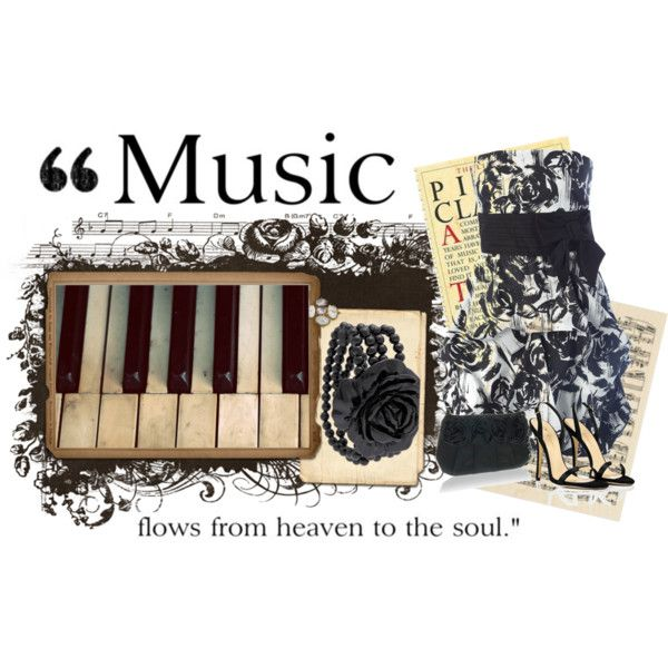 Music.: Music Flowing, Polyvore, Heavens