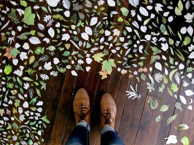 leavesKids Bedrooms, Kid Bedrooms, Fall Leaves, Crafts Room, Painting Floors, Autumn Colors, Floors Painting, Design Blog, Art Projects