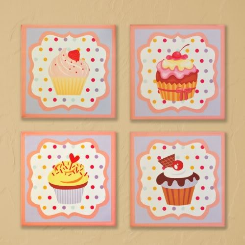 Cupcake Wall Art 21 best cupcake kitchen images on pinterest