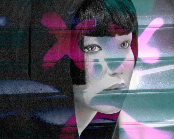 Schaufensterpuppe Fotografie Collage Kunst Female Face von eleanors, $32.00