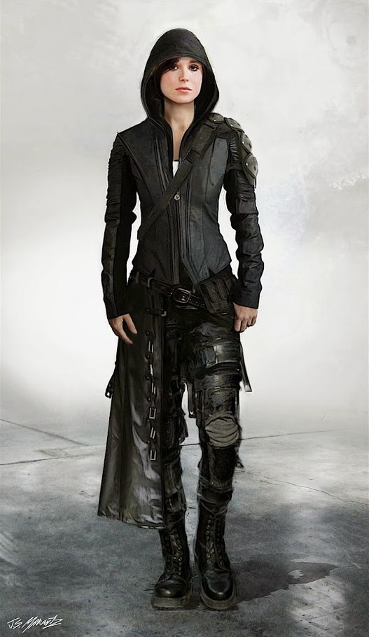 Ellen Page - Concept art alternate costumes of Kitty Pryde in X-Men: Days of Future Past.