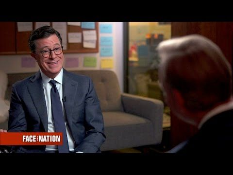 Stephen Colbert on how he writes jokes about Donald Trump