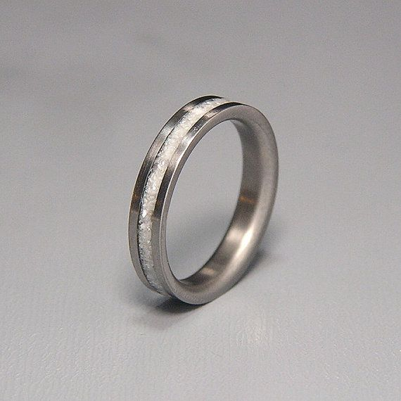 Hey, I found this really awesome Etsy listing at https://www.etsy.com/listing/211854369/titanium-wedding-band-or-ring-white