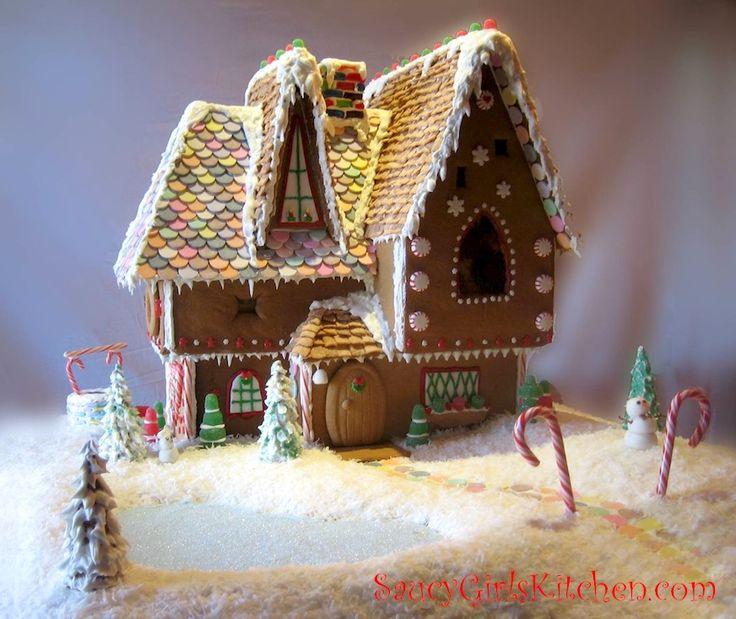 Our Homemade Gingerbread House  http://www.saucygirlskitchen.com/2012/12/13/gingerbread-house/