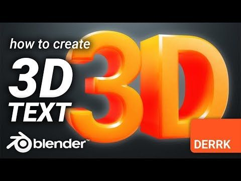 How To Create 3D Text in Blender | Blender 3D in 2019