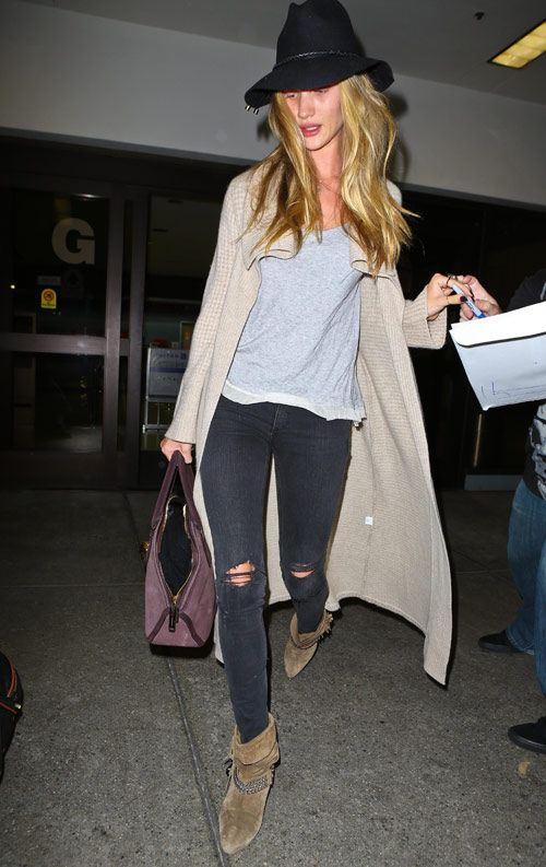 Rosie Huntington-Whiteley Street Style | Rosie Huntington-Whiteley wasn't looking camera-ready while cruising ...