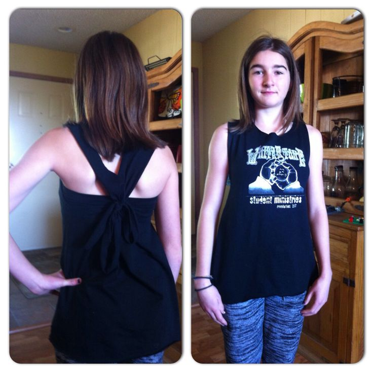 I made my big white stone shirt into a fitted tank top