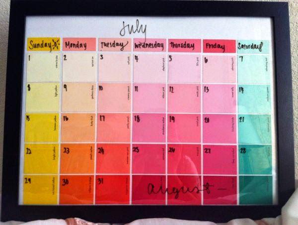 DIY kalendarz na nowy rok- inspiracje.