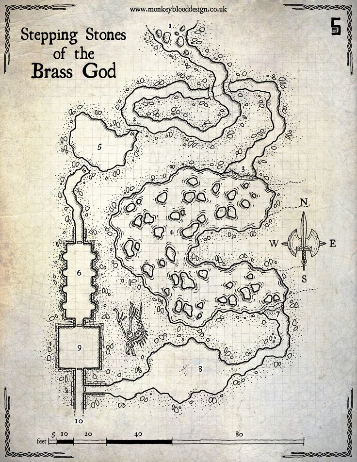 Map Monday : Stepping Stones of the Brass God | OSR Today