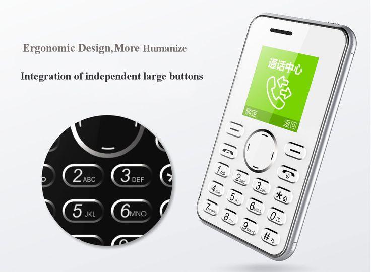 AEKU I9 1.54-Inch TFT 420 mAh Long Standby Ultra-thin Mini Card CellPhone