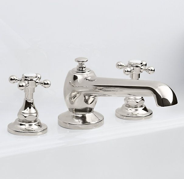 Eaton collection from restoration hardware also with hot cold labels on taps master bathroom for Restoration hardware bathroom faucets