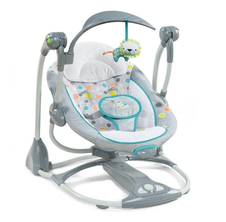 Ingenuity Swing 2 Seat Ridgedale Bouncer Chair Infant Toddler Plush Toy Newborn #InGenuity