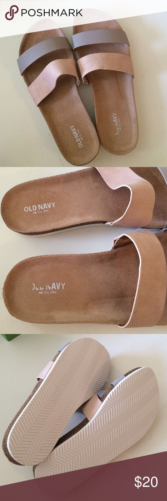 Old Navy slippers - Size 8 - NWOT Selling a new pair of Old Navy slippers. These are very cool and sleek looking and comfortable on top!! Old Navy Shoes Slippers