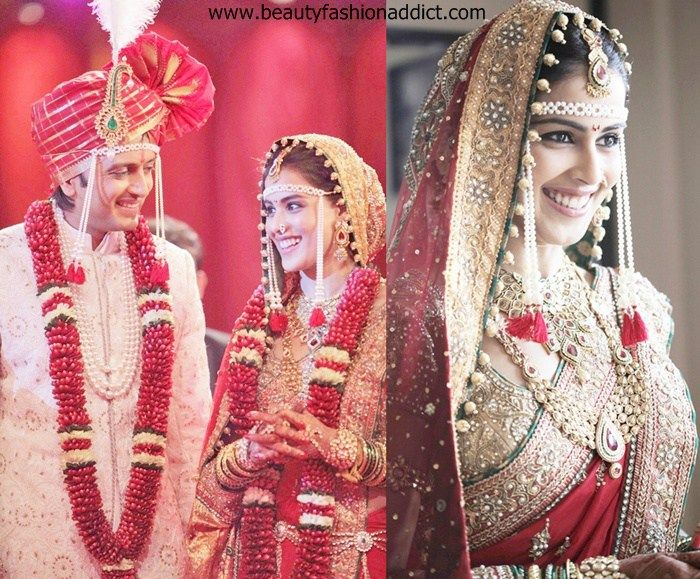 Checkout what your favorite actresses Aish, Genelia, Soha, shlipa shetty, geeta basra etc chose to wear on their D-day.