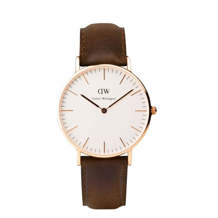 Daniel Wellington - Classic Bristol Dam rosé via Natoband.se - Klockor och natoband. Click on the image to see more!