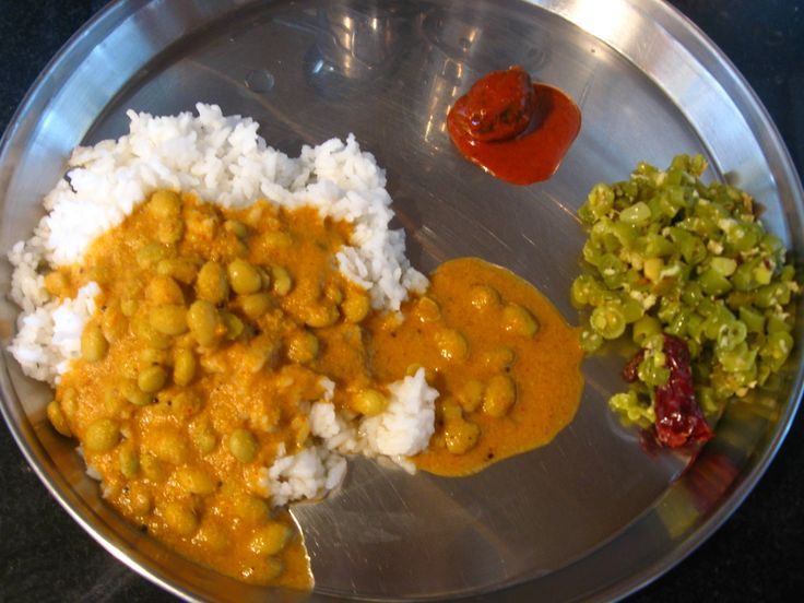 Avarekalu Saaru--sidedish for rice, a Karnataka recipe
