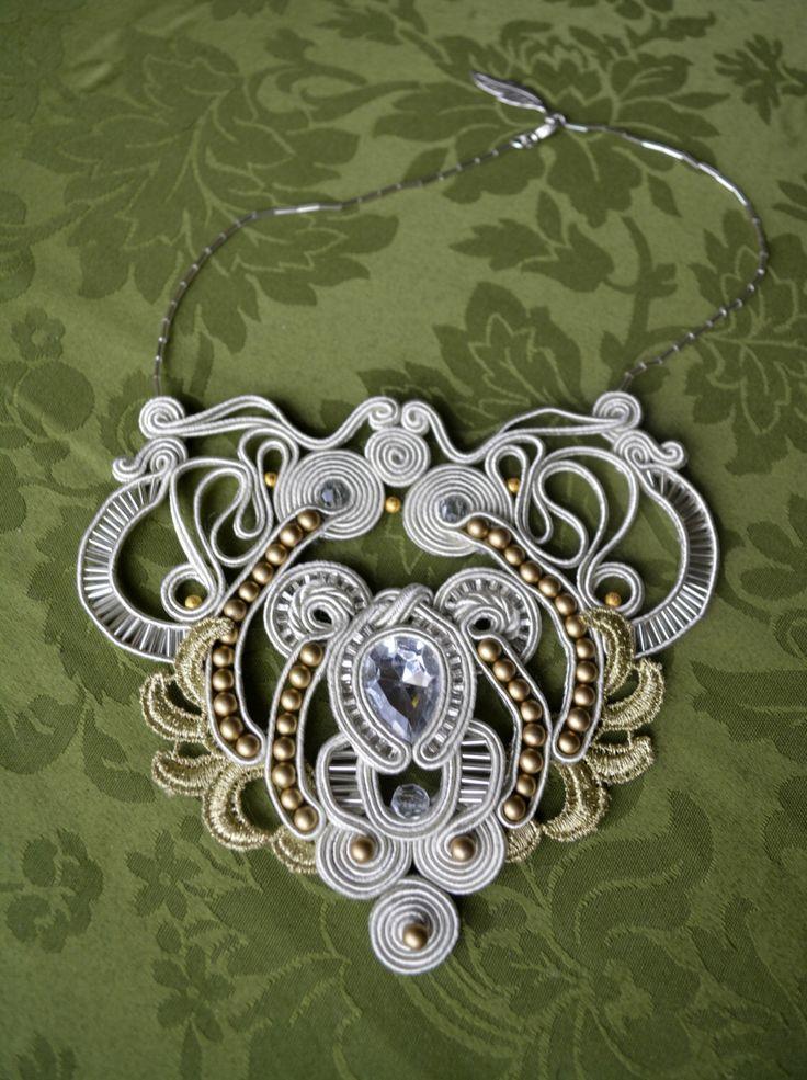 Bride Royal Soutache Necklace by DarcleeFashion on Etsy https://www.etsy.com/listing/220078864/bride-royal-soutache-necklace