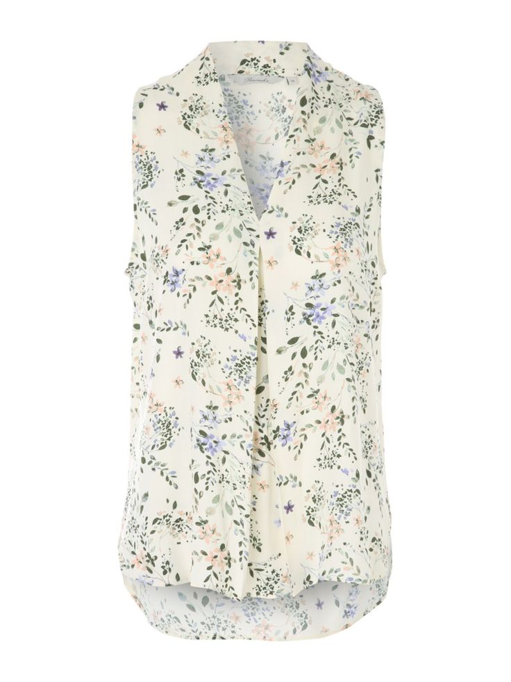 Make a pretty addition to your collection of smart/casual wardrobe staples with this women's pink printed viscose blouse. With a sleeveless design, a v neck ...