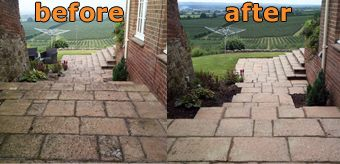 Gary Smithers from Jetwash Cleaning - does exactly what it says on the tin - and my 600 sq ft terrace was completely unrecognisable after he blasted fifteen years' of grime off its slabs.  jetwashcleaning@yahoo.co.uk
