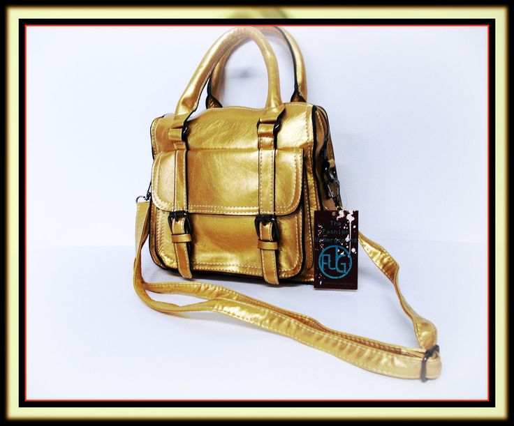 Gold satchel available in Ivory white and tan... you know you want it