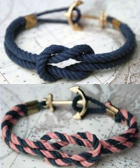 How To Make A Nautical Bracelet That Doesnt Cost As Much As  A Yacht @Casey Sargent - thought youd like this one.