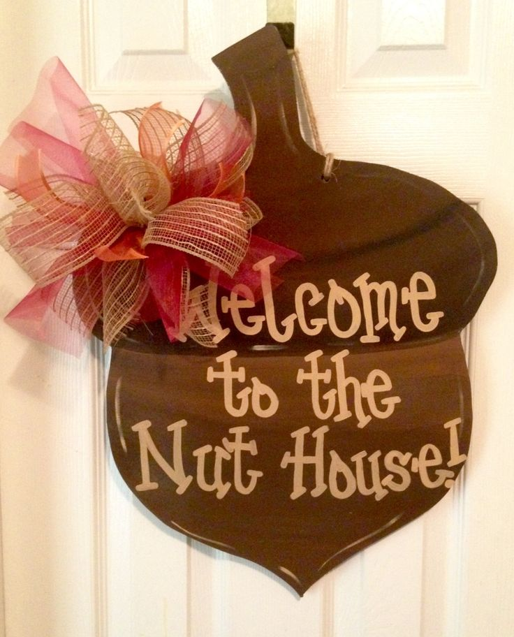 Acorn Door Hanger by TheFrontPorchDecor on Etsy