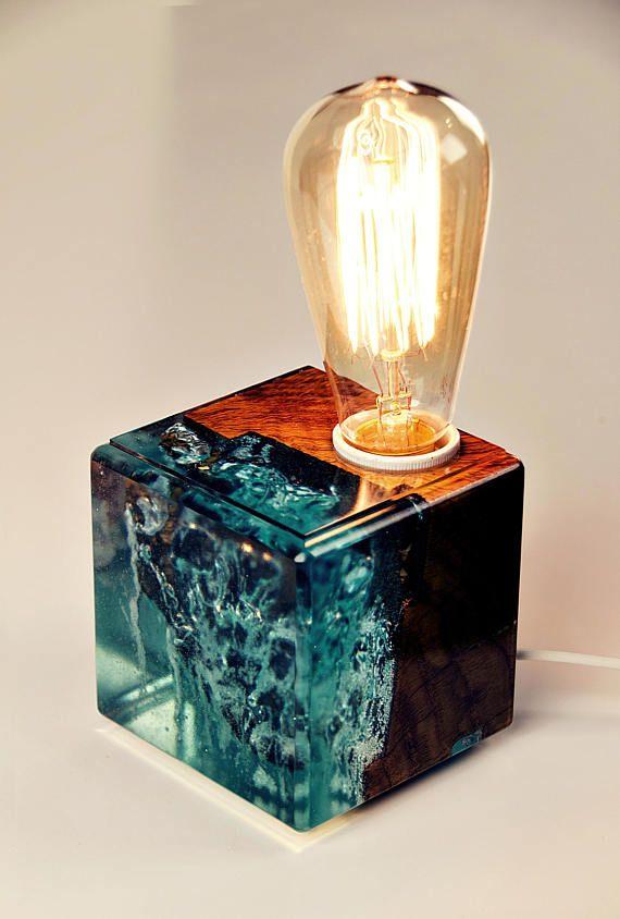Lamp Brings In A Little Bit Of Mystery Ocean Blue Colour