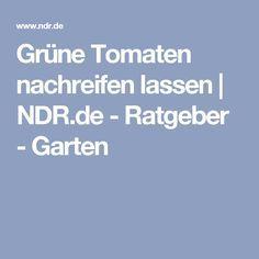 Grüne Tomaten nachreifen lassen | NDR.de - Ratgeber - Garten