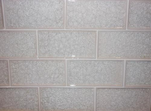 Subway Crackle Glass Tile Bianco Perla In 2019 Glass